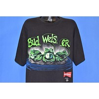 90s Budweiser Beer Frogs Your Pad or Mine t-shirt Extra Large
