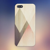 Geometric Accents x Light Wood Case for iPhone 5 iPhone 5S iPhone 4 iPhone 4S and Samsung Galaxy S5 S4 & S3