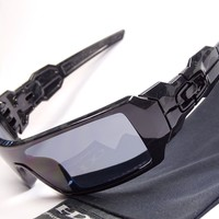 Oakley Oil Rig Shadow Camo Polarized Sonnenbrille Drum Monster Dog Pup Big Taco