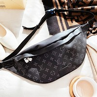LV Louis Vuitton Trending Men Women Leather Chest Bag Waist Bag Shoulder Bag Satchel Backpack
