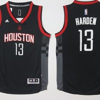 NWT Houston Rockets No.13 James Harden Black Swingman Basketball Jersey Men