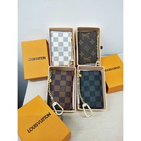 LV tide brand female classic print logo zipper wallet key bag clutch bag