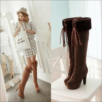 Womens Winter Boots Lace-Up Ladies Boots Women Shoes Winter