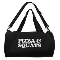 Pizza And Squats Duffle Bag