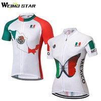 WEIMOSTAR New Outdoor Sports Mexico Couple Ropa Ciclismo Cycling Jersey Bike Bicycle Short Sleeve Shirts Clothing Tops S-5XL
