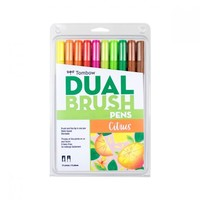 Limited Edition Dual Brush Pen Set, 10, Citrus