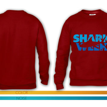 shark week crewneck sweatshirt