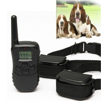 ELEGIANT 2 Rechargable Anti Bark LCD Electric Collar for Dog Stop Barking Remote Training