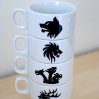 Game of Thrones House Crest Stacking Mug Set