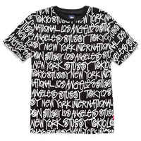 Stussy: Cities Shirt - Black