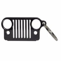 2017 Cheap Price Black Stainless Steel Grill Key Chain, KeyChain KeyRing Car Key for Jeep Key Free Shipping