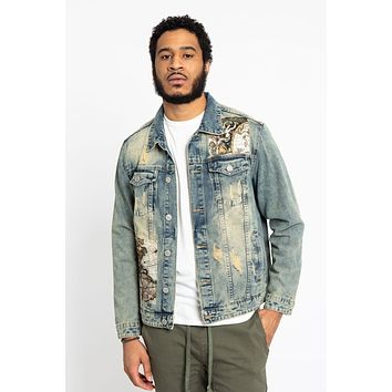 Global Map Denim Jacket