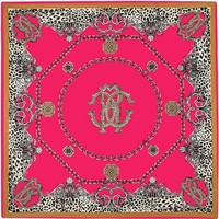100% Twill Silk Scarf Luxury Brand Chain Leopard Print Neckerchief Muslim Headscarf Square Scarves Lady Foulard Female Bandana