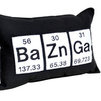 Baznga Periodic Table Embroidered Pillow