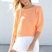 SABO SKIRT  Pastel Orange Knit - $45.00