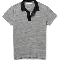 Orlebar Brown - Felix Melange Cotton Polo Shirt | MR PORTER