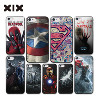 For coque iPhone 7 case 4 4S 5 5S 5C 6 6S 7 Plus Super heroes hard PC cover 2017 new arrivals for fundas iPhone 6 case