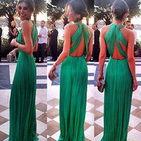 Sexy WOMEN MAXI Cocktail Formal Party Cocktail 2015 Prom Gown Long Dress