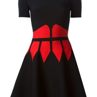 Alexander McQueen contrast corset mini dress