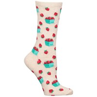 Women's Strawberry Pint Socks | Hot Sox