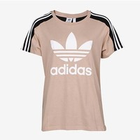adidas Originals Womens Three Stripe Trefoil T-shirt