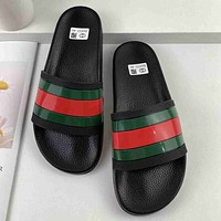 GG summer new men's and women's double G printed slippers shoes