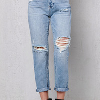 PacSun Favorite Blue Ripped Mom Jeans at PacSun.com