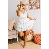 Summer Fiesta Ruffle Dress (Ivory)