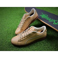 Sale Naturel Clyde x Puma Suede Heart Wheat Shoes Sneaker 64451-01