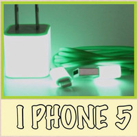 Glow in the dark IPhone 5 charger 3 in 1 Glow in by MelodyForLife