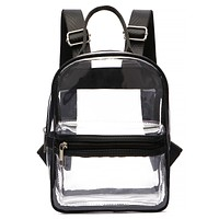 Clear Black Trim Backpack