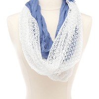 Crochet Mix Infinity Scarf: Charlotte Russe