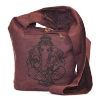 Ganesha Crossbody Everything Bag - Burgundy
