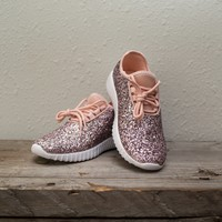 Get Your Glitz On Tennis Shoes - Pink