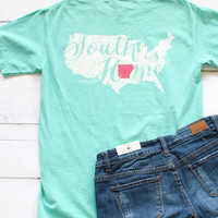 South is Home Short Sleeve Tee {Chalky Mint}