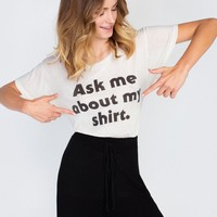 Ask Me About My Shirt Manchester Tee