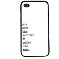 Jupiter Lyrics Case / Train iPhone 4 Case Music 90s iPhone 5 Case iPhone 4S Case iPhone 5S Case Drops of Jupiter Typewriter Phone Case