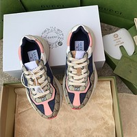 GUCCI G family printed daddy shoes sports shoes