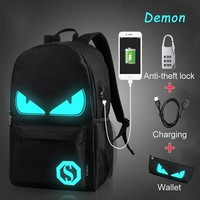 Anime Backpack School Nordshield Luminous USB Charge 15.6 inch Laptop Computer Backpacks For Teenagers  Anti-theft Boys School Backpacks AT_60_4