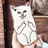 Hot Funny 3D Animal RIPNDIP Pocket Cat Fundas Capa Soft Silicone Phone Cases Cover For iPhone 7 7Plus 4S 5 5S 5C SE 6 6S 6Plus