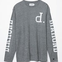 Diamond Supply Co Crown Terry Long Sleeve T-Shirt - Mens Tee - Gray