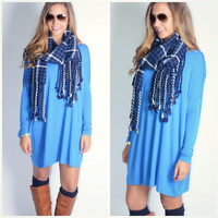 Ellington Blue Piko Dress
