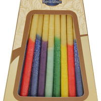 """Lamp Lighters Ultimate Judaica Safed Chanukah Candles Beeswax - 45 Pack - Multi Color - 6"""""""