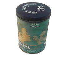 """Vintage 1980 Hershey Milk Chocolate Kisses Can """"A Kiss For You"""" Metal Box Tea Tin Container Potpurri Pencil Case Pen Mothers Gift"""
