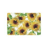 Autumn Fall welcome door mat doormat Flower Floral Anti-slip  Home Decor, Yellow Sunflower Watercolor Art Indoor Outdoor Entrance  Rubber Backing AT_76_7