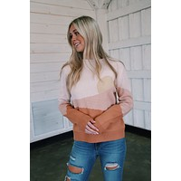 Carina Oversized Sunset Sweater, Peach   Extended Sizes Available
