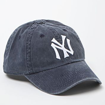 American Needle Washed Out NY Yankees Baseball Cap - Womens Hat - Blue - One