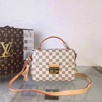 LV Louis Vuitton DAMIER AZUR CANVAS HANDBAG SHOULDER BAG