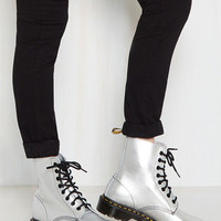 March Through Manhattan Leather Boot in Mercury | Mod Retro Vintage Boots | ModCloth.com
