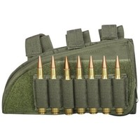 """Fox Outdoor Products Rifle Butt Stock Cheek Rest, Olive Drab, 8"""" x 4.5"""", Right"""